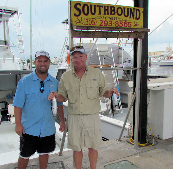 Two Very small Tuna caught in Key West fishing on charter boat Southbound from Charter Boat Row