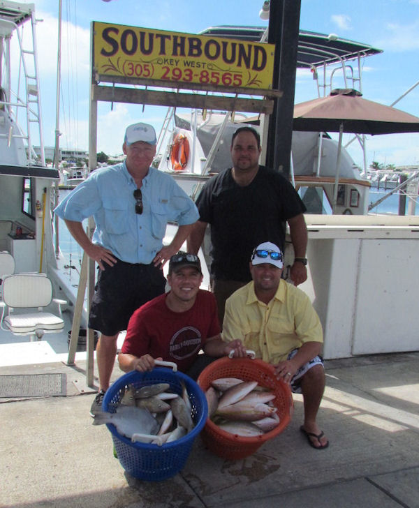 Yellow Tail Snapper caught in Key West fishing on charter boat Southbound from Charter Boat Row