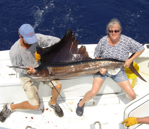 Sailfish caught aboard Southbound in Key West Florida in 2006