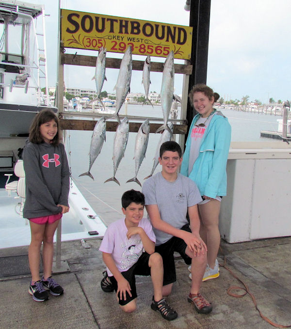 Bonitos, KIngfish and Cero Mackerel caught fishing Key West on charter boat Southbound from Charter Boat Row Key West