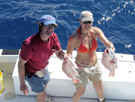 Red Snapper caught aboard Southbound in Key West Florida in 2006