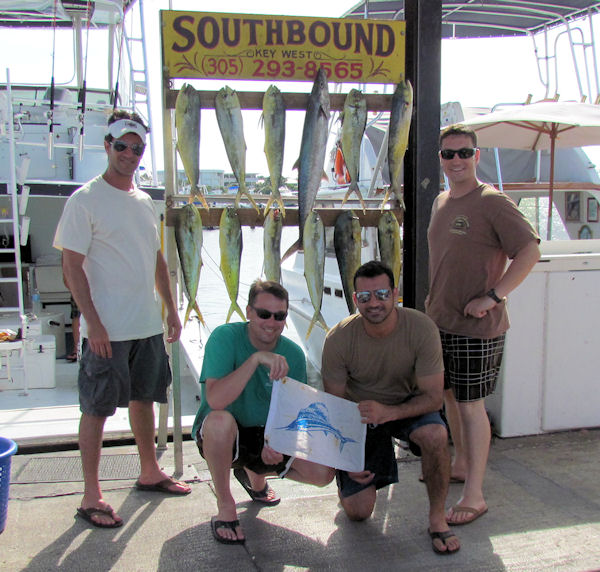 King Mackerel and some Dolphin caught in Key West fishing on charter boat Southbound from Charter Boat Row, Key West