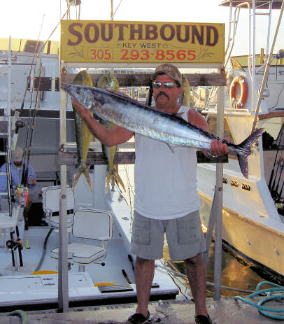 Wahoo caught aboard Southbound in Key West Florida in 2006