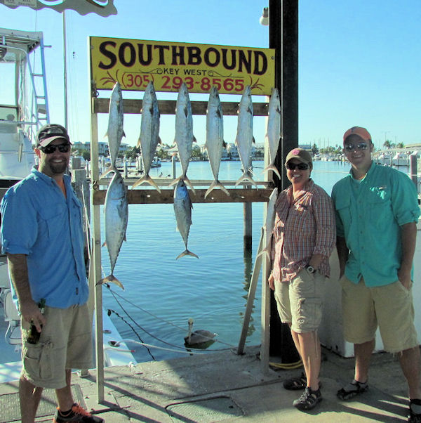 Bonitos and Cero Mackerel caught fishing Key West on charter boat Southbound from Charter Boat Row Key West