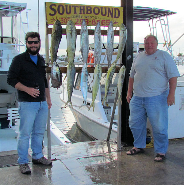 Dolphin and Mackerels caught fishing in Key West on Charter Boat Southbound from Charter Boat Row Key West