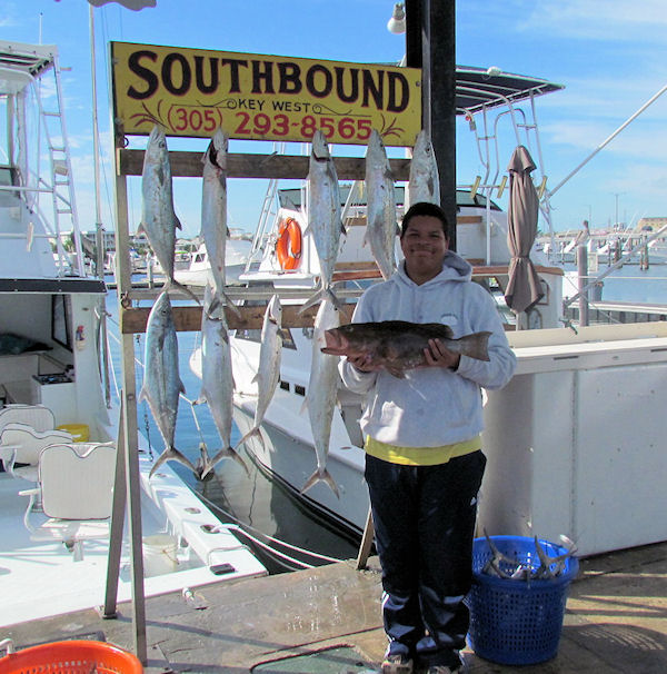 Red Grouper and Cero Mackerel caught fishing Key West on charter boat Southbound from Charter Boat Row Key West