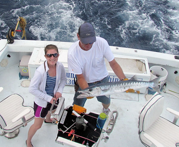 Barracuda caught fishing Key West on charter boat Southbound from Charter Boat Row Key West