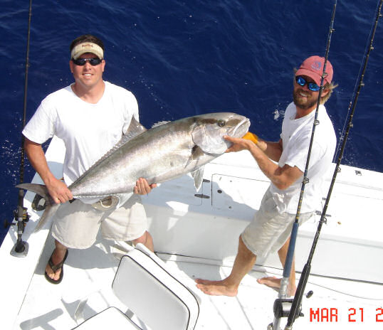 Amberjack caught aboard Southbound in Key West Florida in 2006