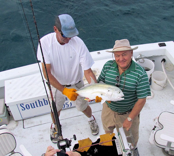 Cravalle Jack caught fishing Key West on charter boat Southbound from Charter Boat Row Key West