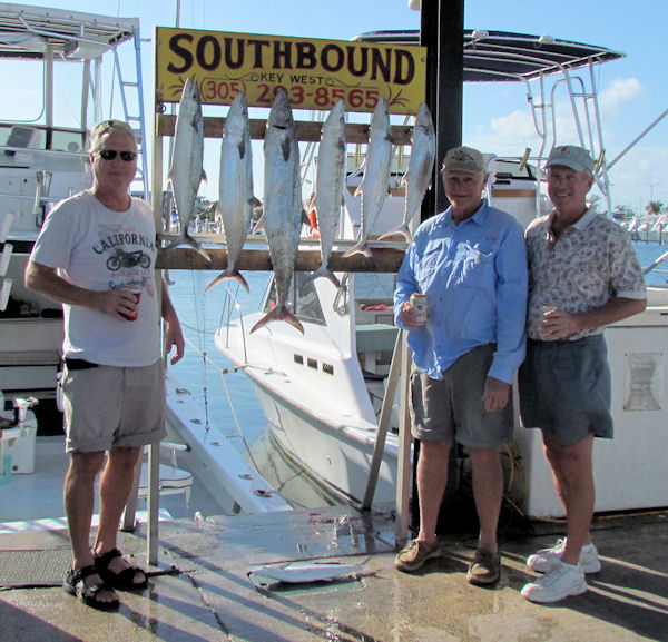 Cero mackerel and King mackerel caugth in Key West fishing on charter boat Southbound from Charter Boat Row Key Wes
