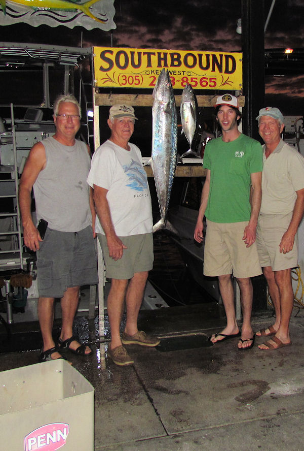 Black Fin Tuna & King mackerel caugth in Key West fishing on charter boat Southbound from Charter Boat Row Key Wes