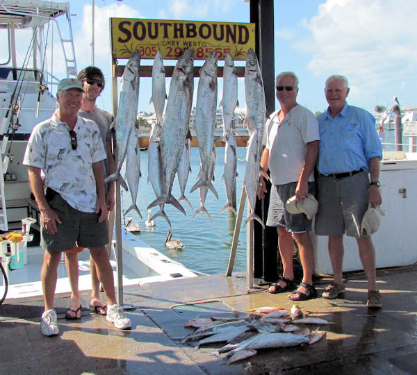 Bonito, Cero mackerel, Yellow Tail Snapper and King mackerel caugth in Key West fishing on charter boat Southbound from Charter Boat Row Key Wes