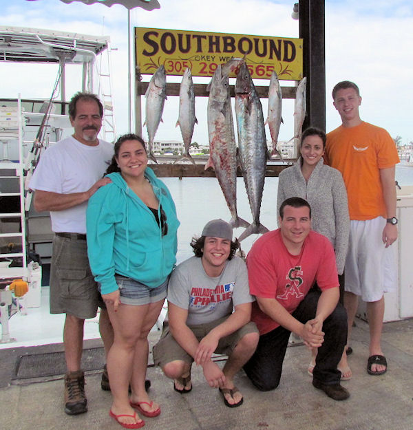 Big Kingfish and Cero Mackerel caught fishing Key West on charter boat Southbound from Charter Boat Row Key West