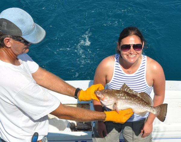 Grouper caught and released fishing Key West on charter boat Southbound from Charter Boat Row Key West