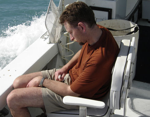 Most Relaxed upright angler aboard Southbound in Key West Florida in 2006