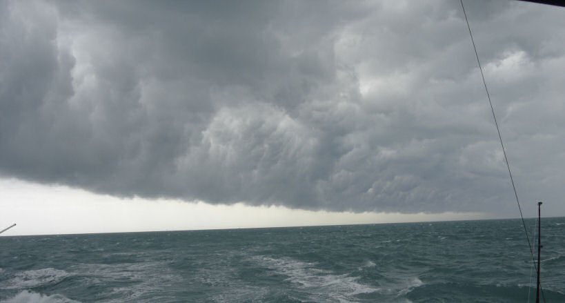 Bad Storm approaching Southbound in Key West Florida in 2006