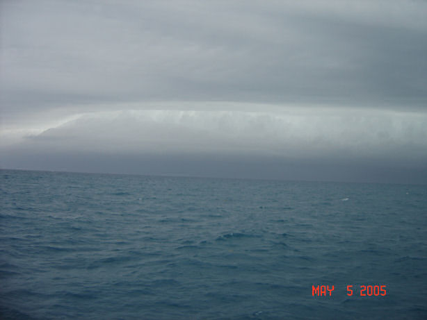 Worst Storm edge seen caught aboard Southbound in Key West Florida in 2005