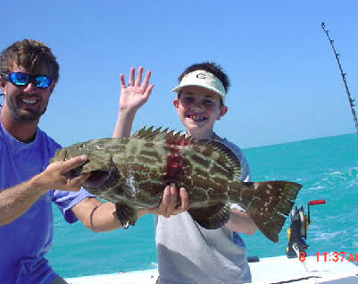 Black Grouper caught aboard Southbound in Key West Florida in 2005