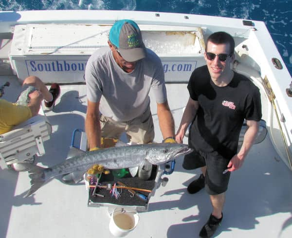catching Barracuda on the Reef off Key West with Southbound Charters