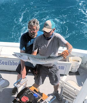 Barracuda caught and released fishing in Key West with Southbound Sportfishing