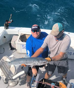 Big Barracuda caught and released in Key West fishing on The Charter Boat Southbouond