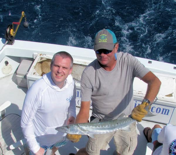 Barracuda caught on the reef off Key West