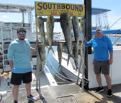 Good Fishing Today on the Charter Boat Southbound in Key West, Florida
