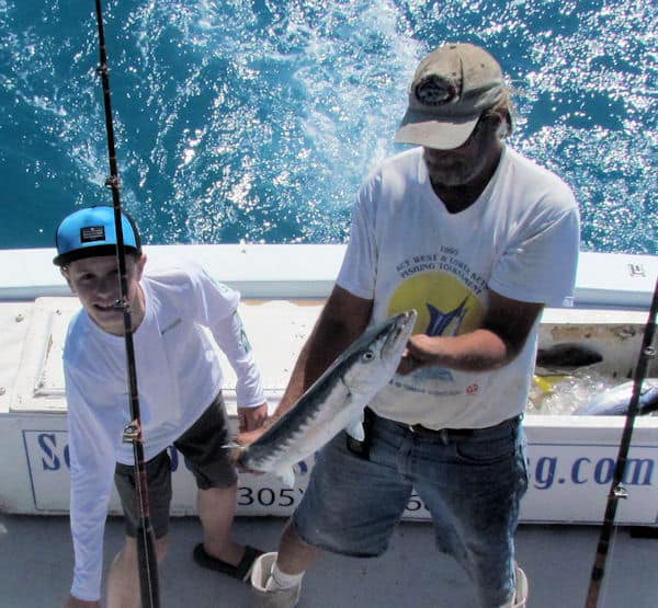 Barracuda caught and released in Key West Fishing on the Southbound