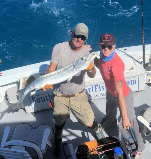Big barracuda caught and released off Key West Florida