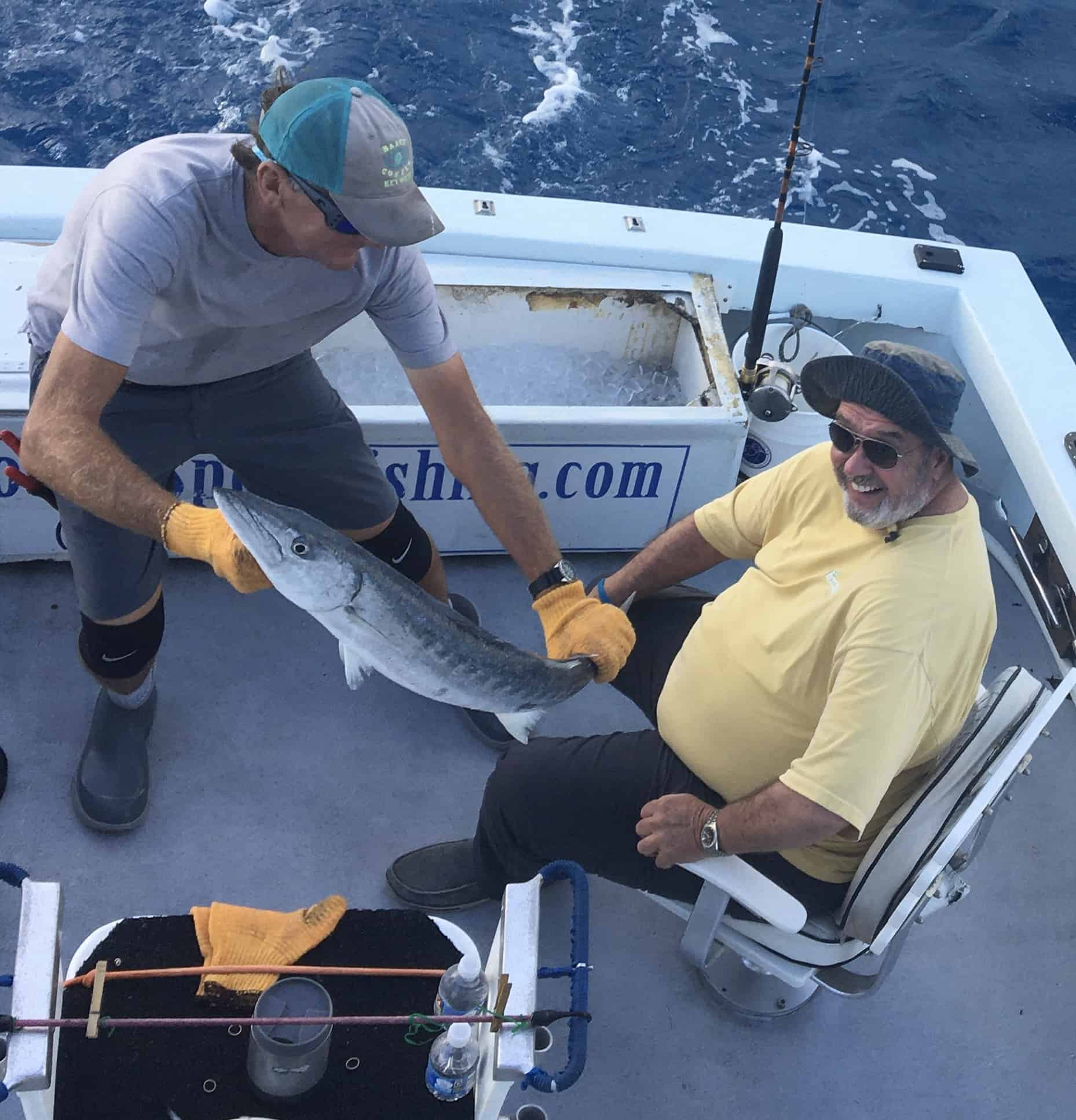 Barracuda caught on the charter boat Southbound in Key West Florida