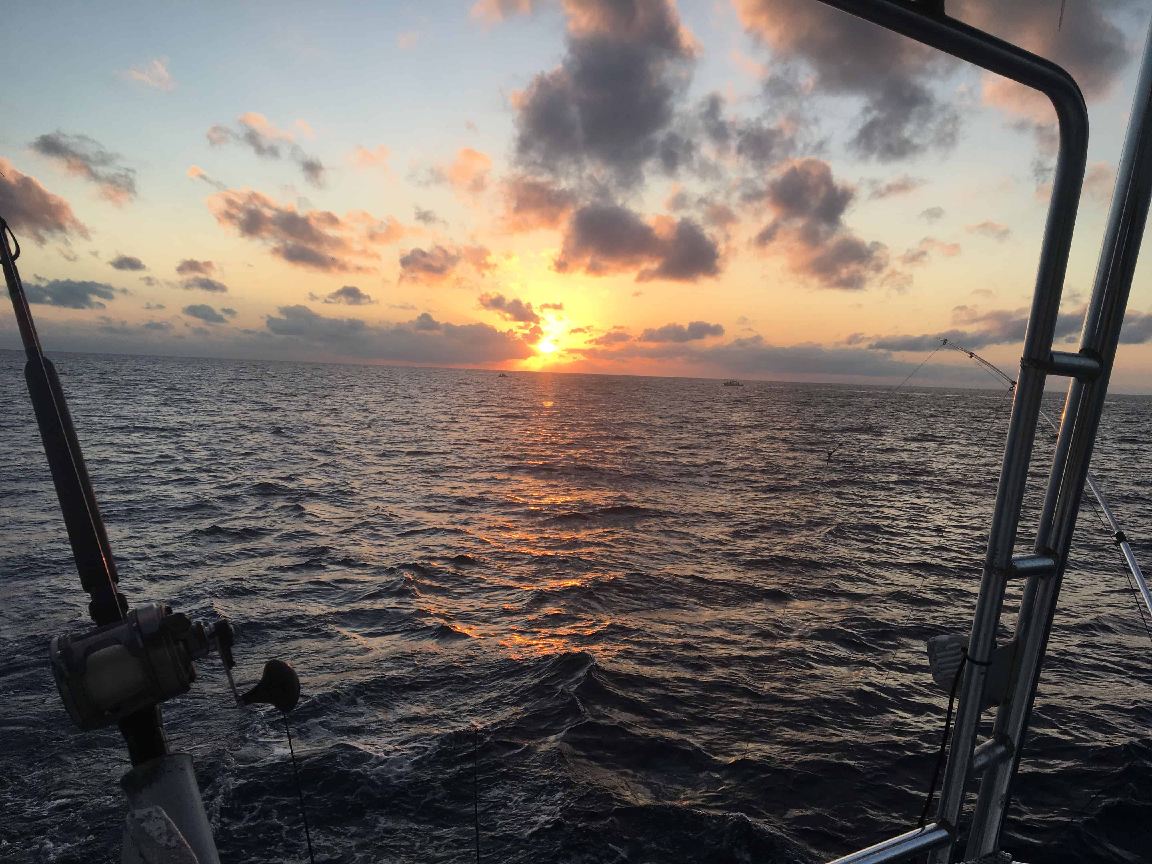 Sunsett at the end of 2019 in Key West fishing on Charter boat Southbound