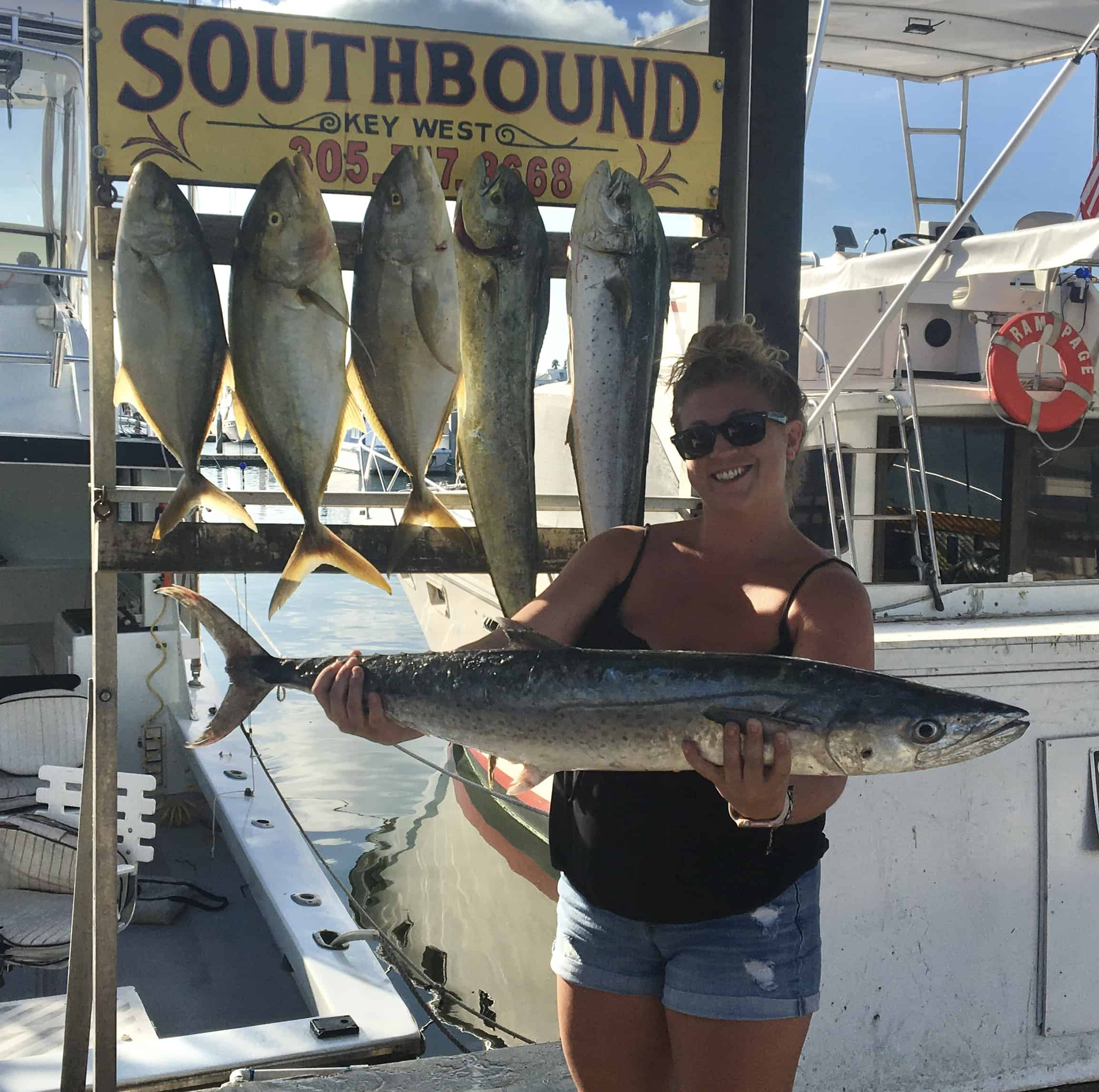 Nice King Mackerel caught in Key West fishing on the Southbound
